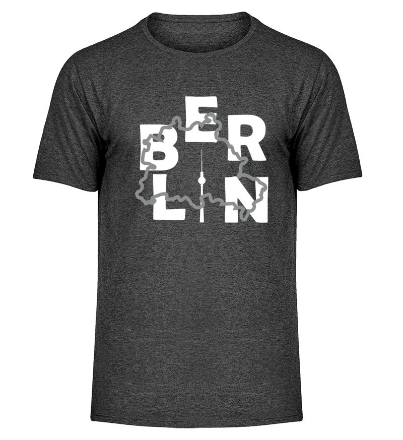 Berlin Dunkelgrau Meliert-Front