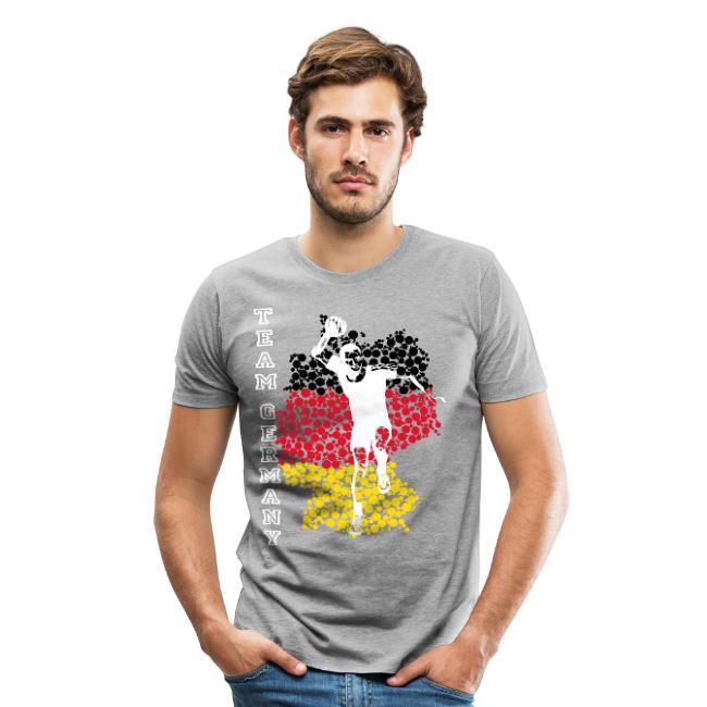 Handball Mann grau tshirt